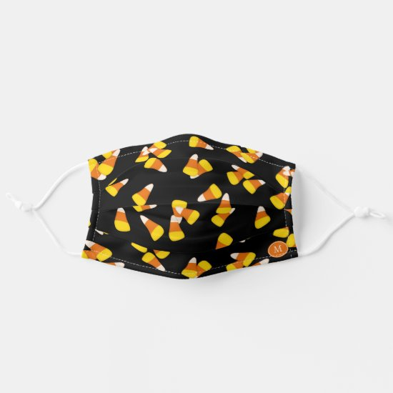 Cute Halloween candy corn pattern Adult Cloth Face Mask