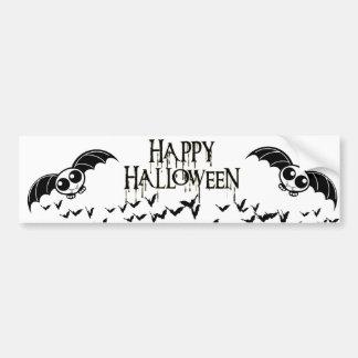 Cute Halloween Cartoon Bat Bumper Sticker