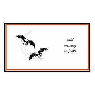 Cute Halloween Cartoon Bats With Moon Business Card