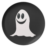 Cute Halloween Cartoon Ghost Plate