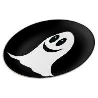 Cute Halloween Cartoon Ghost Porcelain Plate