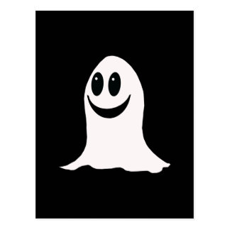 Cute Halloween Cartoon Ghost Postcard