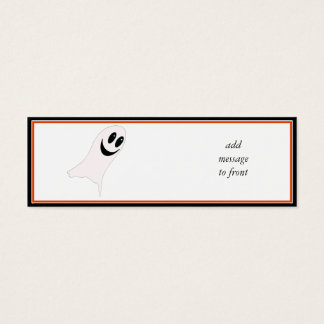 Cute Halloween Cartoon Ghost(s) Mini Business Card