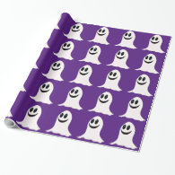 Cute Halloween Cartoon Ghost Wrapping Paper
