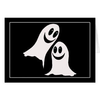 Cute Halloween Cartoon Ghosts Greeting Cards