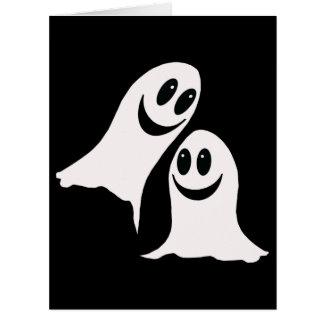 Cute Halloween Cartoon Ghosts Card