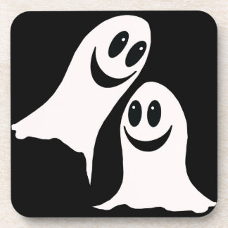 Cute Halloween Cartoon Ghosts Coaster