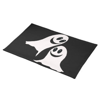 Cute Halloween Cartoon Ghosts Cloth Placemat
