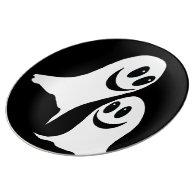 Cute Halloween Cartoon Ghosts Porcelain Plate