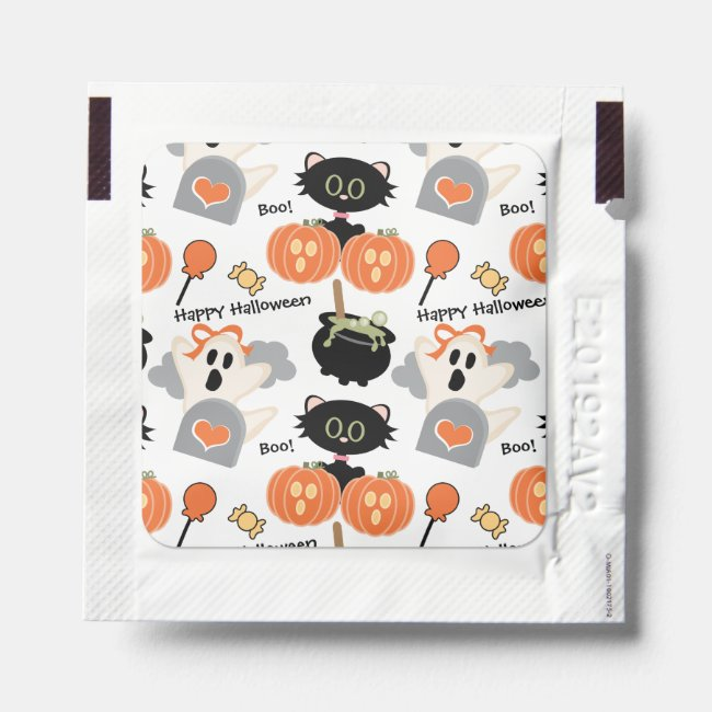Cute Halloween Cat and Ghost Hand Sanitizer Packet