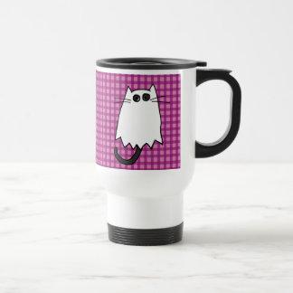 Cute Halloween Cat Ghost Costume Travel Mug