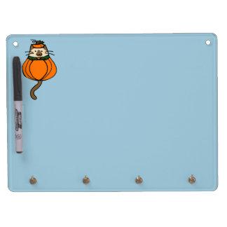 Cute Halloween Cat Pumpkin Costume Dry-Erase Whiteboard