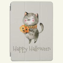 Cute Halloween Cat with Pumpkin | iPad Air Case