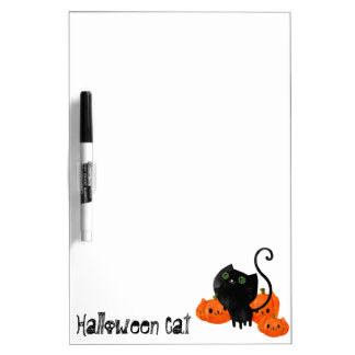 Cute Halloween cat with pumpkins Dry-Erase Whiteboards