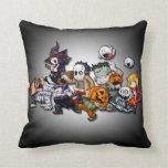 Cute Halloween Characters Pillow