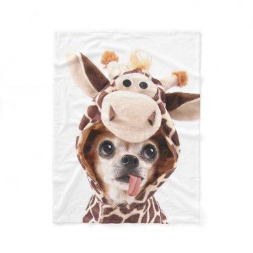 Halloween Themed Cute Halloween Chihuahua Fleece Blanket