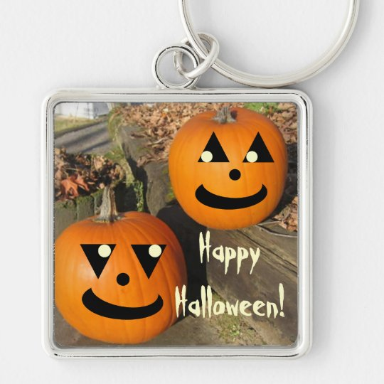 Cute Halloween Country Pumpkins Keychain