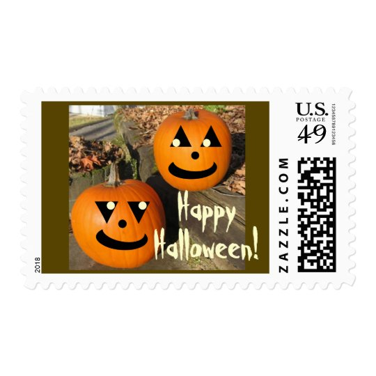 Cute Halloween Country Pumpkins Postage