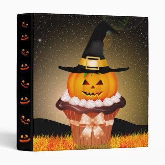 Cute Halloween Cupcake Binder