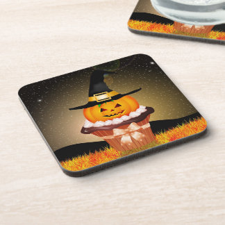 Cute Halloween Cupcake Coasters (set of 6)