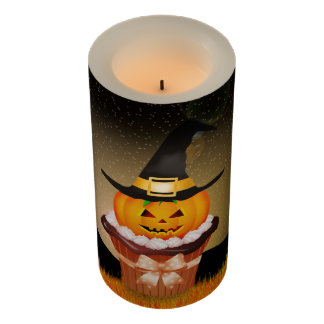 Cute Halloween Cupcake Medium Flameless Candle