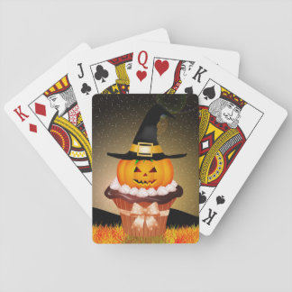 Cute Halloween Cupcake Playing Cards