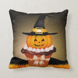 Cute Halloween Cupcake Throw Pillow