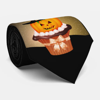 Cute Halloween Cupcake Tie