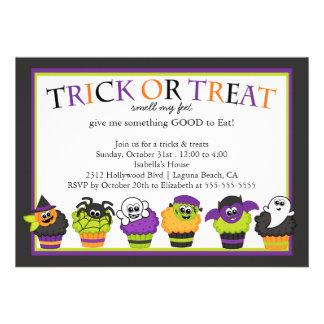 Cute Halloween Cupcakes Kids Costume Party Custom Invites