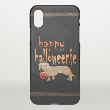 Halloween Themed Cute Halloween Dachshund Happy Halloweenie iPhone X Case
