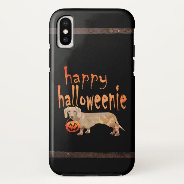 Cute Halloween Dachshund Happy Halloweenie iPhone X Case