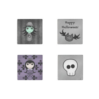 Cute Halloween decor Stone Magnet