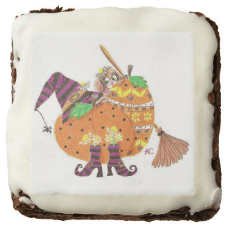 Cute Halloween design square brownies Square Brownie