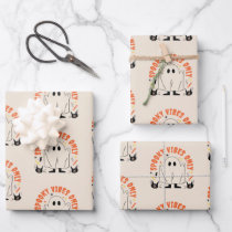Cute halloween design wrapping paper sheets