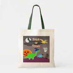 Cute Halloween Dinosaurs Trick Or Treat Bag at Zazzle