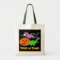 Cute Halloween Dinosaurs Trick or Treat Candy Bag at Zazzle