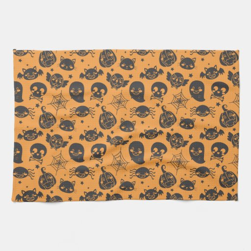 Cute Halloween Elements Kitchen Towel