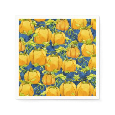 Halloween Themed Cute Halloween for Kids Pumpkin Patch Leaves Vines Paper Napkin