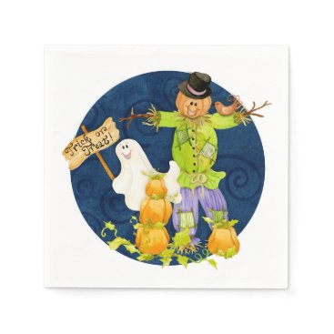 Halloween Themed Cute Halloween for Kids Scarecrow Pumpkin Ghost Napkin