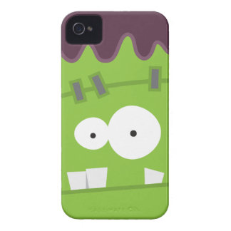 Cute Halloween Frankenstein Monster Face Case-Mate iPhone 4 Cases