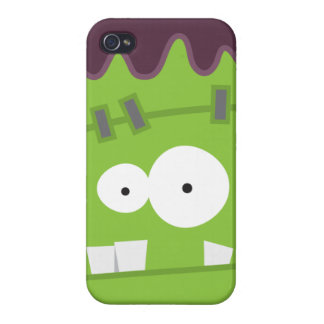 Cute Halloween Frankenstein Monster Face Cover For iPhone 4