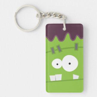 Cute Halloween Frankenstein Monster Face Keychain