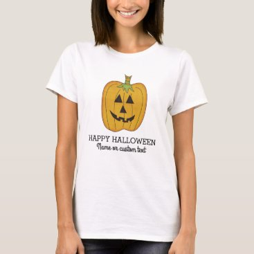 Halloween Themed Cute Halloween Funny Pumpkin Jack O Lantern Custom T-Shirt