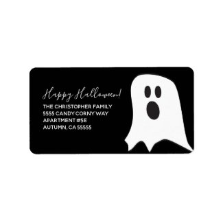Cute Halloween Ghost Address Label