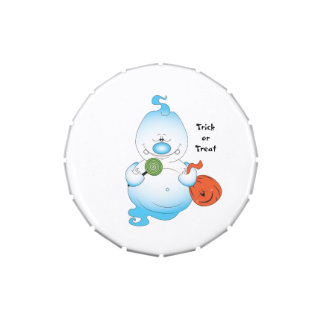 Cute Halloween Ghost Cartoon Candy Tins