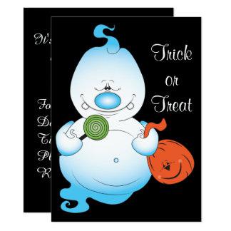 Cute Halloween Ghost Cartoon Card