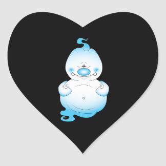 Cute Halloween Ghost Cartoon Heart Sticker