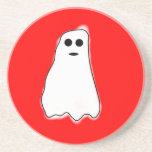 "Cute Halloween Ghost Drink Coaster<br><div class=""desc"">Cute halloween ghost sandstone coaster</div>"