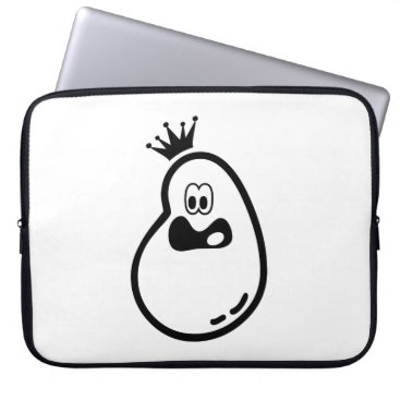 Cute Halloween Ghost with crown Computer Sleeve