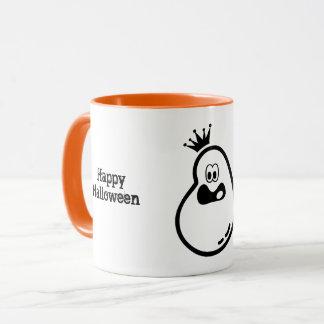 Cute Halloween Ghost with crown Mug